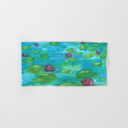 Lilypads by Mary Bottom Hand & Bath Towel