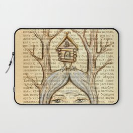 Baba Yaga on an old book page Laptop Sleeve