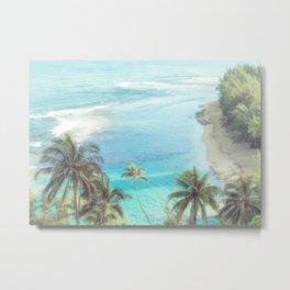 Dreamy Palm Beach Landscape Metal Print