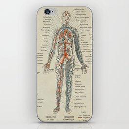 Anatomy Vintage Scientific Illustration French Language Encyclopedia Lithographs Educational iPhone Skin