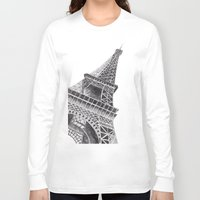 eiffel tower Long Sleeve T-shirts featuring Eiffel Tower by Ugurcanozmen