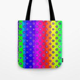 Rainbow and purple flowers Tote Bag
