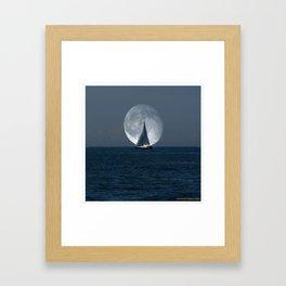 Full Moon Sailing Framed Art Print