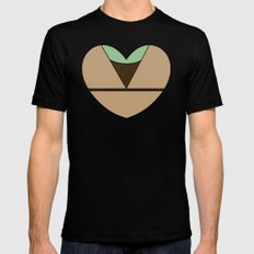 Yoda Character Heart MEDIUM Black Mens Fitted Tee