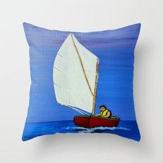 Little sailboat Throw Pillow