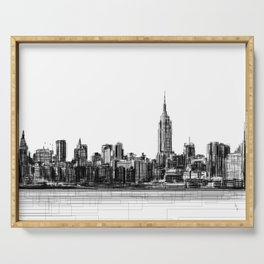 Empire State NYC Serving Tray