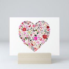 heart bloom Mini Art Print