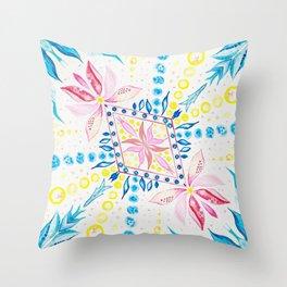 Floral Mosaic Throw Pillow