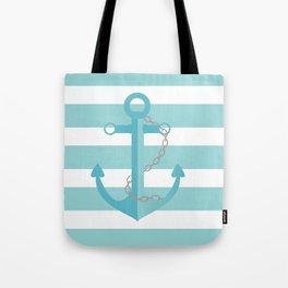 AFE Nautical Aqua Ship Anchor Tote Bag