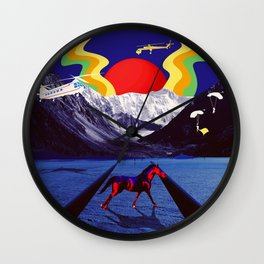 the team rallies to recover the horse of a different color Wall Clock