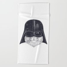Darth Cat Beach Towel