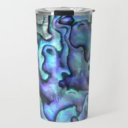 Deep Purple Abalone Shell Travel Mug