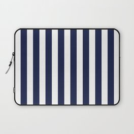 Navy Blue Breton Stripe V Minimal Laptop Sleeve