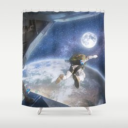 Space Freedom Shower Curtain