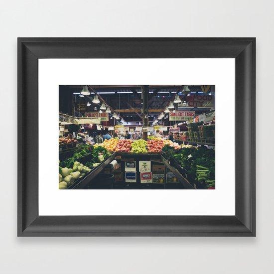 Granville Market Framed Art Print