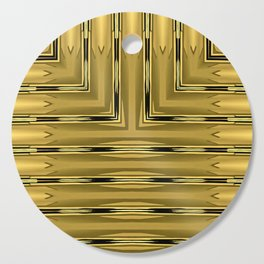 Gold Art Deco Square Block Cutting Board