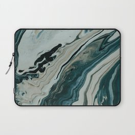 Tranquil Arctic Painting Marble Laptop Sleeve