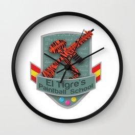 El Tigre's Paintball School Wall Clock