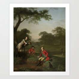 Members of the Nepean Family of St. Just, Cornwall by,  Arthur Devis (1712–1787) Art Print