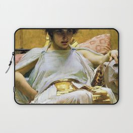 12,000pixel-500dpi - John William Waterhouse - Cleopatra - Digital Remastered Edition Laptop Sleeve