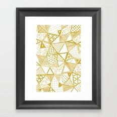Golden Doodle triangles Framed Art Print