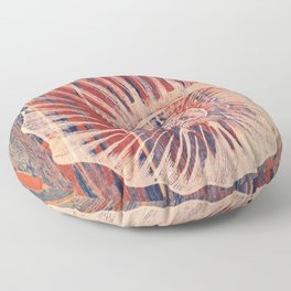 The Coral of The SeaShell Floor Pillow