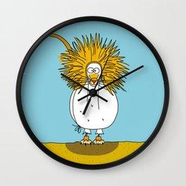 Eglantine la poule (the hen) dressd up as a lion. Wall Clock