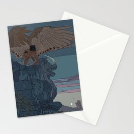 Perched Angels Stationery Cards