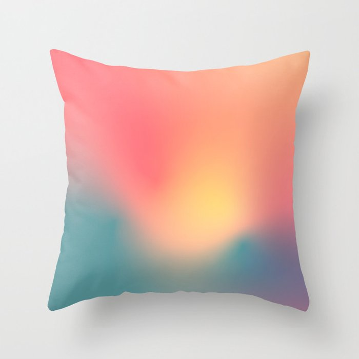 Abstract Gradient No. 6 (Sunset) Throw Pillow