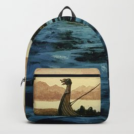 Drakkar, watercolor Backpack