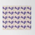 Indigo Monstera Leaf Watercolor on Blush by laurabethlove