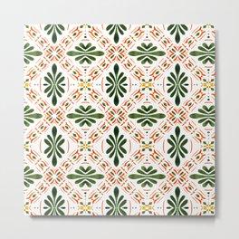 Andalusian mosaic pattern Metal Print