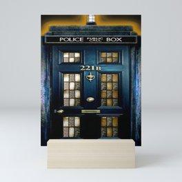 Tardis Sherlock Holmes 221B Mini Art Print