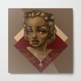 Lady Monroe with Background Metal Print