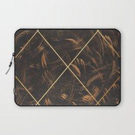 Gold & Paint Strokes 01 Laptop Sleeve