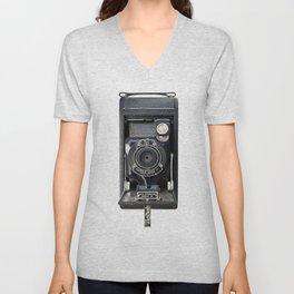 Vintage Autographic Kodak Jr. Camera Unisex V-Neck