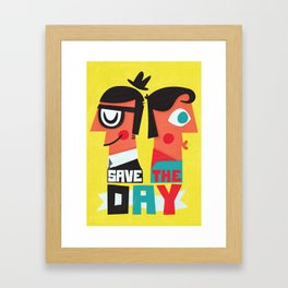 Save the day Framed Art Print