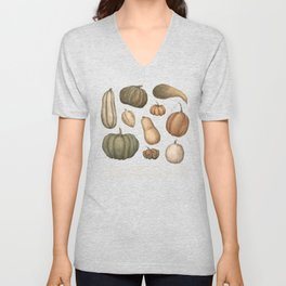 Pumpkins and Gourds Unisex V-Neck
