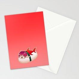 Chibi Shark Sushi Stationery Cards