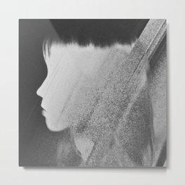 Faceless Charcoal Metal Print