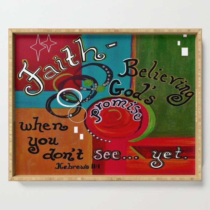 Hebrews 11 Faith Serving Tray