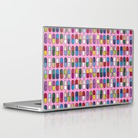 pills Laptop & iPad Skins featuring Colorful Pills by Sr Manhattan