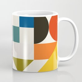 mid century retro shapes geometric Coffee Mug