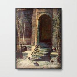 Abandoned Factory Doorway Metal Print