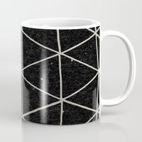 retro Mugs featuring Geodesic by Terry Fan
