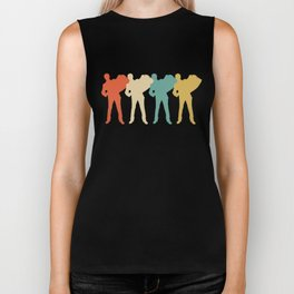 Accordion Player Retro Pop Art Graphic Biker Tank
