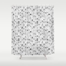 Seltzer Crazy Shower Curtain