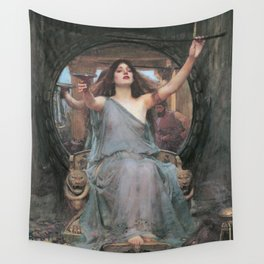 CIRCE OFFERING THE CUP TO ULYSSES - JOHN WILLIAM WATERHOUSE Wall Tapestry