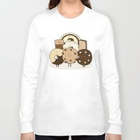 cookies Long Sleeve T-shirts featuring I ❤️ cookies by maRiLisa