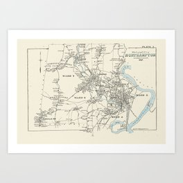 Northampton MA in 1895 Art Print